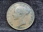 Victoria, Young Head Halfpenny 1846, F, AD465